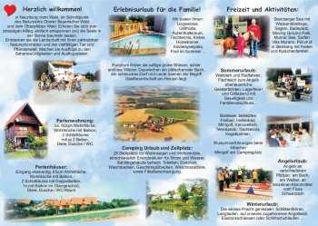 Flyer Prospekt Camping Ferienwohnungen Ferienhaeuser