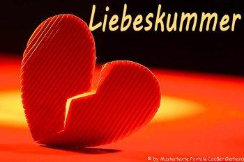 Gedichte über unerwiderte Liebe Zitate - Bild mit gebrochenem Herzen