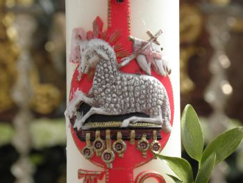 Gruesse Ostern Kerze Feiertag Ostergruss