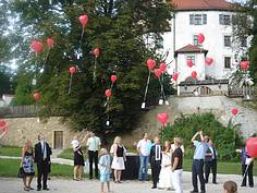 romantische Hochzeit Schloss Thierlstein Burgansicht