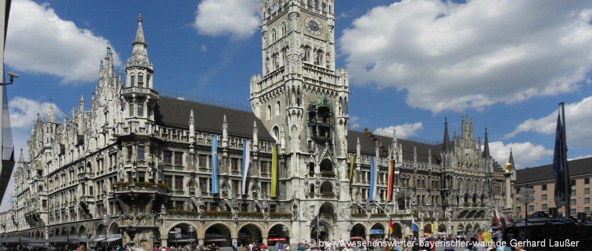 Sehenswürdigkeit in München - Marienplatz und Rathausplatz