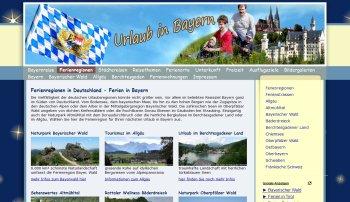 Referenzen Webdesign Portale Bayern Bayernreise Portal