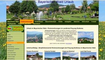 Referenzen Webdesign Portale Ferienwohnungen Bayerischer Wald Portal