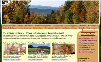 Internetseiten Erstellung Portale - Sehenswerter Bayerischer Wald Portal
