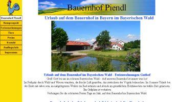 Homepage erstellen für Urlaub auf dem Bauernhof im Bayerischen Wald - Bauernhof Piendl