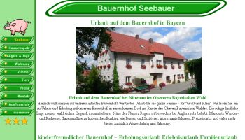 Homepage Erstellung Bauernhofurlaub im Oberen Bayerischen Wald Urlaub Nittenau