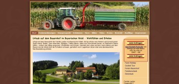 Webseitenerstellung für Unterkünfte in Bayern im Bayerischen Wald - Bauernhofurlaub Bayerischer Wald