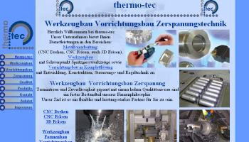 Erstellung Optimierung und Pflege von Webseiten für Firmen Betriebe - Referenzen Webdesign Firmen Homepage Gewerbe Betriebe Metall Thermo Tec