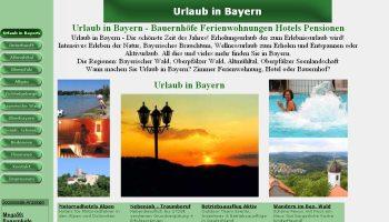 Referenzen Webdesign Portale Bauernhof Ferienwohnungen Bayern Portal