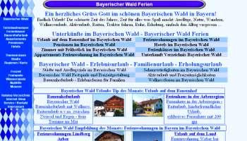 Referenzen Webdesign Portale Bayerischer Wald Ferien Portal