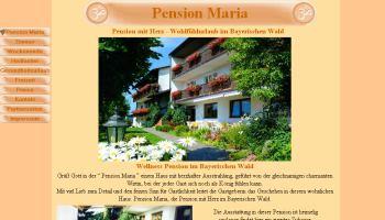 Homepageerstellung für Pensionen und Hotels in Bayern / Bayerwald - Pensionen Wellness Pension Maria